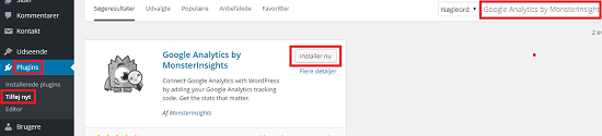 Installer Google Analytics by MonsterInsights