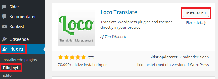 Installer Loco Translate