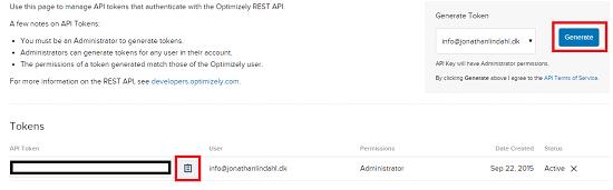 Kopier API kode