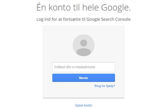 Log ind Google