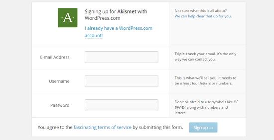 Opret WordPress bruger