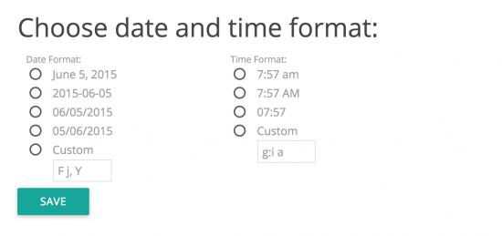 Step 3: Dato og tids indstillinger samt nye kategorier og sider