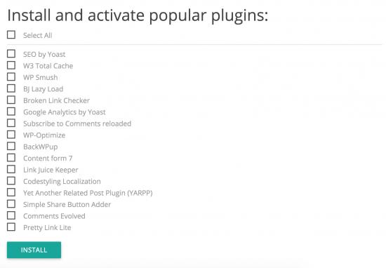Step 4: Installation af mange populære plugins