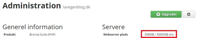 Webserver plads hos Unoeuro