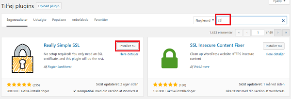 Installer Really Simple SSL