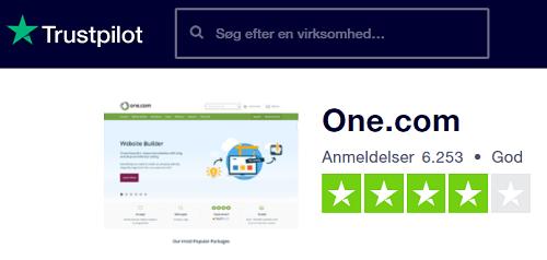 One.com trustpilot