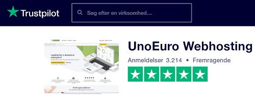 Unoeuro trustpilotscore